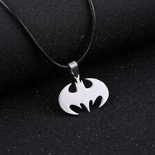 Película De Batman De Acero Inoxidable Para hombres Soga Cadena Collar Colgante * Reino Unido *