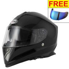 Vcan V128 Full Face DVS Motorcycle Helmet Pinlock Ready Gloss Black + Vcan Visor