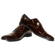 Modello Virello - Main Italien Bordeaux Richelieus Robe Chaussures - Vache Verni