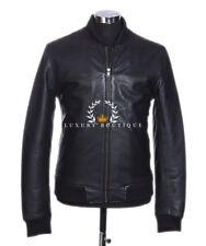 80's Klassisch Bomber Herren's Smart Vintage Echtes Weiches Lammfell Leder Jacke