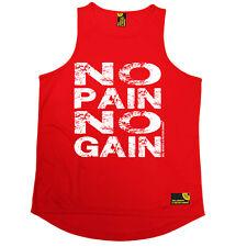 NO PAIN NO GAIN GYM Bodybuilding Allenamento Training Divertente Compleanno Gilet di formazione
