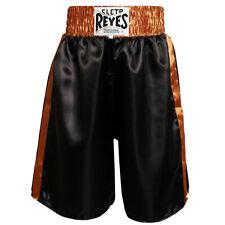 Cleto Reyes Satin Classic Boxing Trunks - Black/Gold