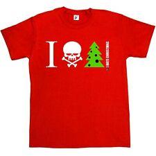 Je déteste Noël Crâne & Crossbones avec arbre anti Noël T-shirt Homme