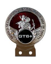 TRIUMPH GT6 + Logotipo St Chris Placa De Coche Placa + fijaciones de los 3 Colores para Elegir