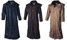Stockman coat abrigo reitmantel gabardina jinete Biker negro marrón beige