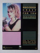 """Madonna/Original Sheet Music for """"Crazy For You"""""""