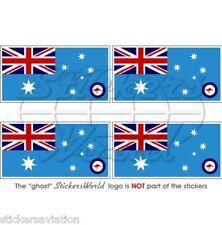 AUSTRALIEN Luftwaffe Flagge AUSTRALISCHE Fahne 50mm Sticker Vinyl Aufkleber x4
