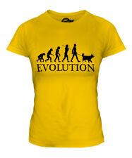 BELGIAN SHEEPDOG EVOLUTION OF MAN LADIES T-SHIRT TEE TOP DOG GIFT WALKER WALKING