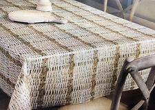 toile cirée nappe table au mètre carré rond Oval Rotin OPTIQUE k150181