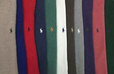 Polo Ralph Lauren 1/2 Half Zip French Rib Sweater $115 Green Red Blue w Pony NWT