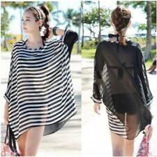 Boho Stripe Blouse Kimono Beach Festival Dress Top Shirt Kaftan Bohemian Retro
