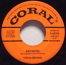 TERESA BREWER-DICK JACOBS Anymore-That Piano Man 1960 1ST PRESS ORANGE CORAL 45