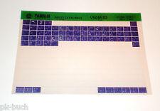 Microfich Ersatzteilkatalog Yamaha V 50 M ab 1983