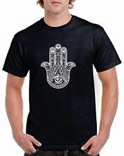 Fatima Hand Hamsa Arabische BRUST LOGO T-Shirt Blumenmuster Hippie Mode Hipster