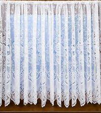 606 victorien effet dentelle lourd épais blanc rideau filet rose damassé floral