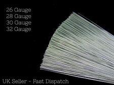 "200 Stems 7"" Silver Rose Galvanised Stub Wire  26 28 30 32 swg Florist Craft"