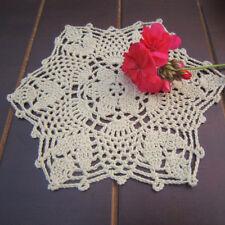 Cotton Handmade Coasters Doilies Table Mat Crochet Lace Placemat Home Decor Mat