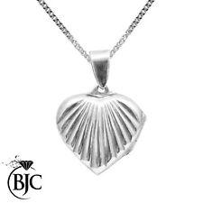BJC Corazón De Plata De Ley Colgante Camafeo & Opcional Collar De Plata De Ley