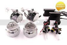 DDM Bi-Xenon Retrofit H1 Projectors V2,2.5in,W/35W 55W Slim HID Kit,W/Shrouds