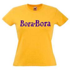 Bora Bora Ibiza Ladies Lady Fit T Shirt 13 Colours Size 6 - 16