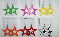 wholesale jewelry lot colorful star shape fashion drop/dangle hoop earring YW61