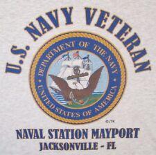 NAVAL STATION MAYPORT* JACKSONVILLE-FL* U.S NAVY VETERAN W/EMBLEM* SHIRT