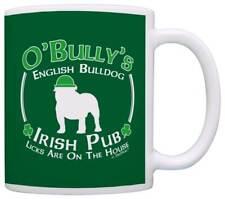 Dog Owner Gift St Patricks Day English Bulldog Irish Pub Sign Coffee Mug Tea Cup