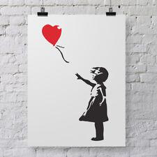 Banksy Balloon Girl Wall Stencil - Large Urban Graffiti Art Template