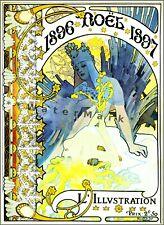 Noel 1896 French Art Nouveau Illustration Vintage Poster Print Retro Style Mucha