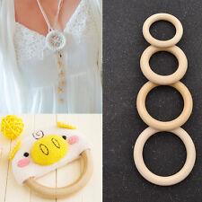 Bastelholz DIY Holz Ring Halskette Anhänger Craft Deko Zubehör 50/55/65/70mm 10x