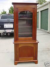 Choice Empire Single Door Mahogany China Display Cabinet