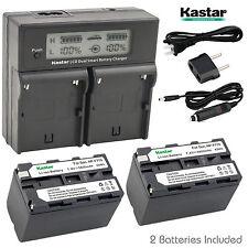 Kastar Battery Charger Sony HXR-NX5 NEX-EA50UH NEX-FS100U NEX-FS700U HXR-MC2000U