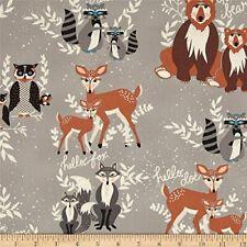 2m Art Gallery Hello Bear Hello Fox Cotton Children Quilting Clothing Fabric