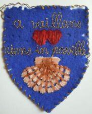Tissu brodé insigne COEURS VAILLANTS 1930 (Scout) authentique