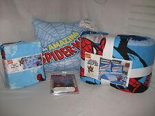 NEW MARVEL COMICS AMAZING SPIDERMAN 9 PC FULL 7 PC TWIN BED SET PILLOW & BORDER