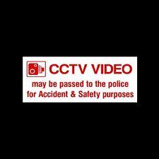 CCTV VIDEO possono essere passati alla polizia-esterni Adesivo / segno-sicurezza, sicurezza