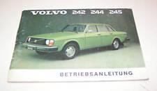 Betriebsanleitung Volvo 242 / 244 / 245 !