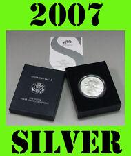2007 W Silver American Burnished Eagle US MINT 1 oz .999 Fine Pure Silver Coin