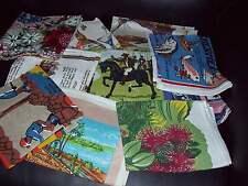 Vintage Retro Unused Tea Towel Linen Australian Souvenir New Zealand Birds