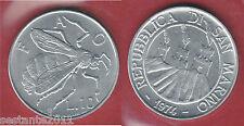 S62, SAN MARINO 10 LIRE MOSCA 1974 DA SERIE DIVISIONALE  KM 33,   FDC / UNC