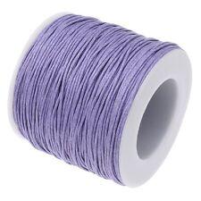 5m ou 10m Fil en Coton Ciré Violet Cordon coton cire attache tetine
