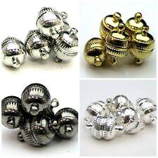 5 pcs - 13mm gravé ball / Orb forte magnétique fermoirs Pick Couleur Bijoux