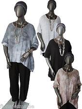 EG Gr.42 44 46 48 Tunika Bluse Baumwollbluse Shirt Oversize Farbauswahl ITALIEN