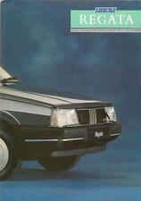 Fiat Regata Saloon & Weekend 1987-89 UK Market Sales Brochure Comfort Super
