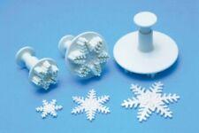 PME fiocco di neve STANTUFFO Cutter/goffratrici Set di 3 congelati Sugarcraft Torta Strumento