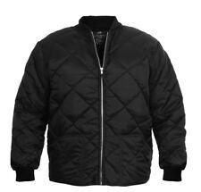 Black Classic Diamond Jacket Quilted Nylon Flight Military Coat Rothco 7230