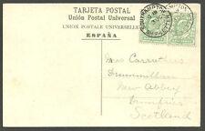 1 / 2D edvii x2 VILLA DE Orotava POST CARD Southampton nave lettera 1905 CD's