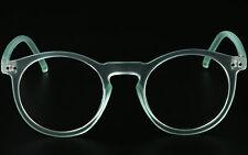 Horn Rimmed Round Retro Optical Eyeglasses Frames Plain Glasses Spectacles Rx