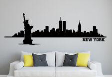 Wandaufkleber: Skyline New York - Wohnzimmer Schlafzimmer City Stadt WandTattoo