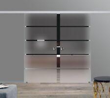 Soft Stop SlimLine Doppel Glasschiebetür Glas Schiebetür BP1-AS-DPL